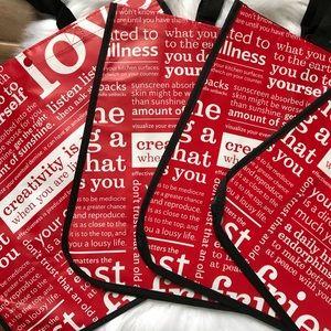 lululemon athletica Bags - Lululemon reusable shopping totes handbags Red new